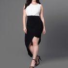 Sleeveless Color Block Dress 1596
