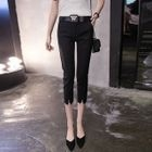Plain Capri Skinny Pants 1596