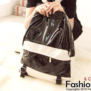 Buy Fashion Lady Color-Block Backpack 1023046786