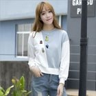 Embroidered Colour Block Sweatshirt от YesStyle.com INT