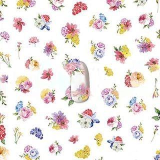 Flower Nail Sticker 1066518464
