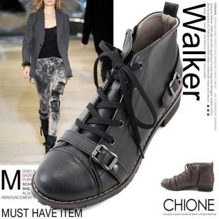 Picture of Chione Lace-Up Boots 1023068397 (Boots, Chione Shoes, Korea Shoes, Womens Shoes, Womens Boots)