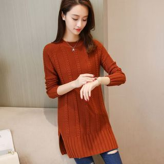 Rib Knit Long Sweater 1062673513