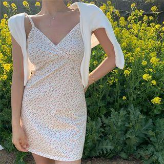 Spaghetti | Cardigan | Floral | Strap | Dress | Print | Mini