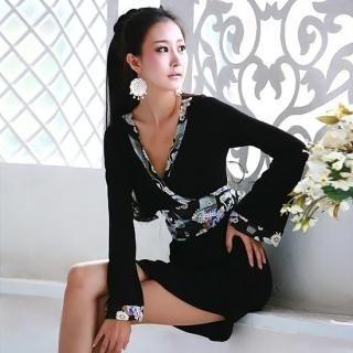 Buy Nabi Oriental-Print Trim Wrap Minidress 1022824345