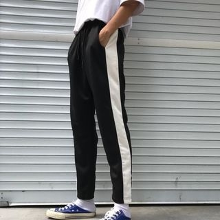 Contrast Trim Sweatpants 1062347203