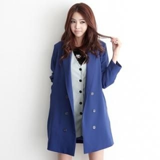 Buy HARU Shawl-Collar Double-Breasted Long Jacket 1022494080