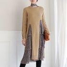 Set: Distressed Slit Sweater + Floral Print Dress 1596