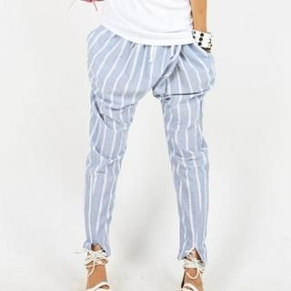 Picture of BBon-J Striped Baggy Pants 1023060013 (Womens Baggy Pants, BBon-J Pants, South Korea Pants)