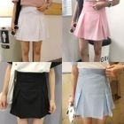 Pleated A-Line Mini Skirt 1596