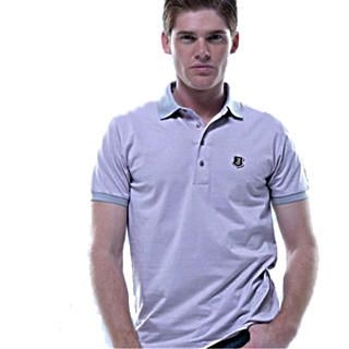 Picture of Justyle Contrast-Trim Striped Polo Shirt 1022441955 (Justyle, Mens Tees, China)