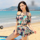 Set: Patterned Bikini + Top + Skirt 1596