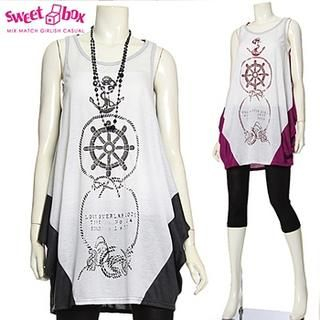 Buy Sweetbox Sleeveless Printed A-Line Top 1022992538