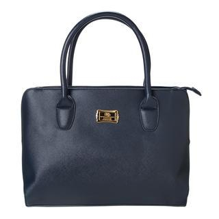 Faux-Leather Zip Tote Navy - One Size 1037629893