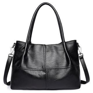 Set of 2: Faux Leather Handbag + Shoulder Bag 1063986811