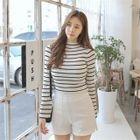 Striped Rib Knit Top 1596