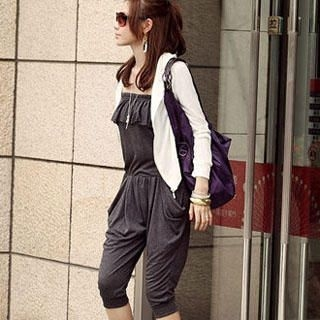 Picture of PUFFY Ruffle Jumpsuit Gray - One Size 1022940023 (PUFFY Pants, Taiwan Pants)