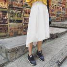 Plain Dip-Back A-Line Skirt 1596