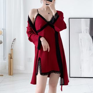 Spaghetti | Pajama | Strap | Dress | Robe | Lace