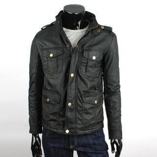Buy SEOBEAN Faux-Leather Jacket 1021974134