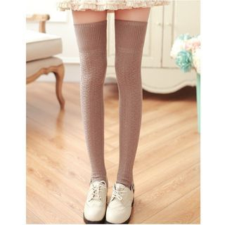 Knit Thigh High Socks 1062206186