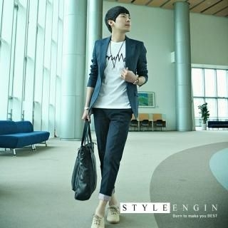 Picture of Style Engine Roll-Up Ankle-Length Pants 1022481738 (Style Engine, Mens Pants, Korea)