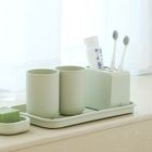 Set of 5: Toothbrush Stand + Cup + Tray 1596