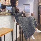 Set: Plain Sweater + A-Line Knit Skirt 1596