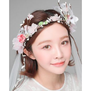 Bridal | Flower | Veil | Band | Hair | Size | One