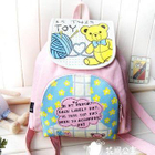 Bear Print Canvas Backpack Pink -One Size от YesStyle.com INT
