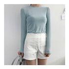 Zip-Side Cotton Shorts 1596