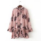 Floral Frilled Chiffon Dress 1596