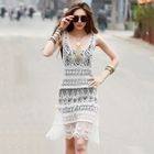 Sleeveless Crochet Dress/Slipdress 1596