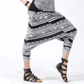Buy deepstyle Geometric Pattern Harem Pants 1022961802