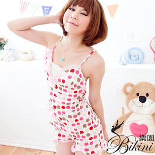 Picture of BiKiNi Wonderland Apple Print Top + Pants (Pajama Set) 1022885852 (BiKiNi Wonderland Apparel, Womens Innerwear, Taiwan Apparel, Taiwan Innerwear)