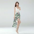 Print Chiffon Panel Sleeveless Maxi Dress 1596