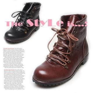 Buy Woorisin Genuine Leather Laced-up Boots 1023040716