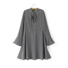 Bell-Sleeve Chiffon Dress 1596