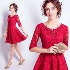 Elbow-Sleeve Cocktail Dress 1596