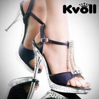 Buy Kvoll Diamante Patent Sandals 1022512394
