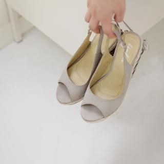 Picture of Youareagirl Open-Toe Wedge Slingbacks 1022737623 (Other Shoes, Youareagirl Shoes, Korea Shoes, Womens Shoes, Other Womens Shoes)
