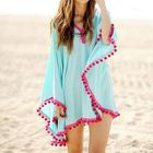 Bobble Trim Swimsuit Cover-Up 1596