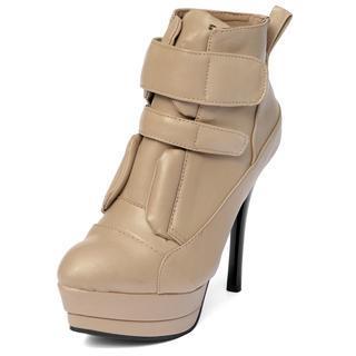 Velcro Ankle Stiletto Boots