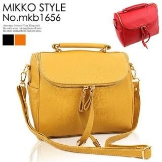 Buy Mikko Faux-Leather Tote with Cross Strap 1022976436