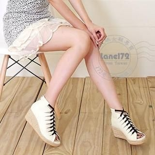 Buy Lane172 Open Toe Wedge Pumps 1023046028