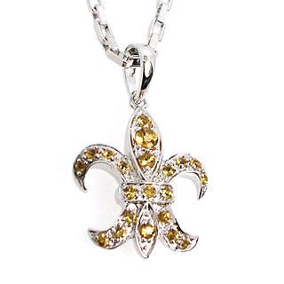 Picture for Fleur de lis pendant - citrine - United states