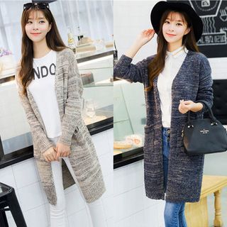 Melange Long Cardigan 1054342312