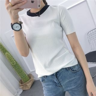Ribbed Short-Sleeve T-Shirt 1058572198
