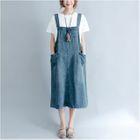 Denim Jumper Dress 1596