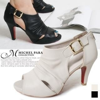 Picture of MICHEL PARA COLLECTION Ankle Belted Cut-Out Pumps 1022476603 (Pump Shoes, MICHEL PARA COLLECTION Shoes, Korea Shoes, Womens Shoes, Womens Pump Shoes)